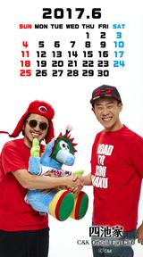 カレンダー2017年6月用